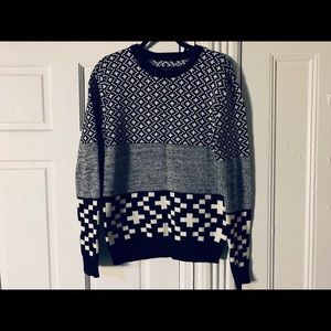Urban Outfitters black & white printed sweater